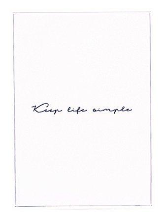 QUADRO EM CANVA KEEP LIFE SIMPLE