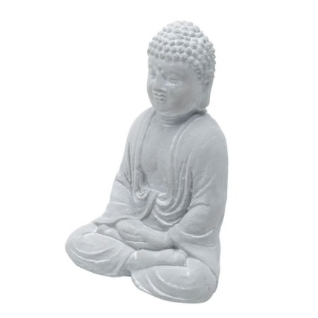BUDDHA CINZA SENTADO