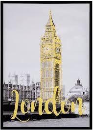 QUADRO LONDON DOURADO