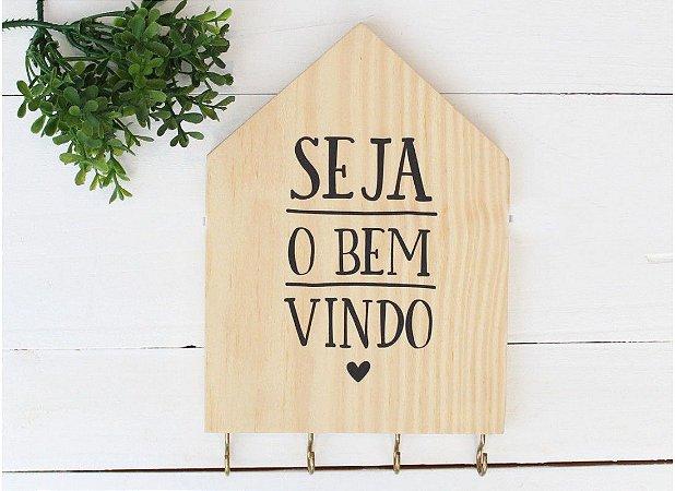 PORTA CHAVES CASINHA SEJA O BEM VINDO