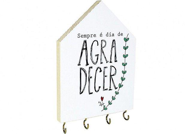 PORTA CHAVES CASINHA SEMPRE E DIA DE AGRADECER