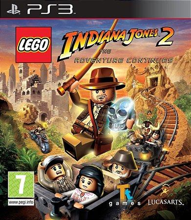 Lego Indiana Jones 2 - PS3 Mídia Física Novo Lacrado