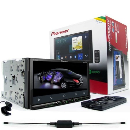 "DVD Player Pioneer AVH-Z5080TV 2 din TV Integrada USB Bluetooth Tela 7"" Touch Screen"