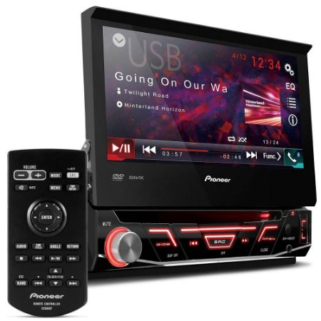 "DVD Player Pioneer Retrátil Tela 7"" Touch Screen com Bluetooth AVH-4880BT"