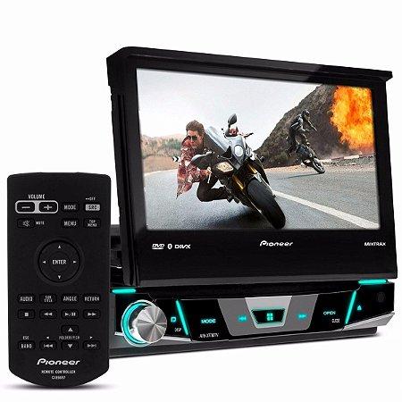 """DVD Player Retrátil Pioneer AVH-X7880TV tela 7"""" Touch com TV Integrada e Bluetooth Mixtrax"""