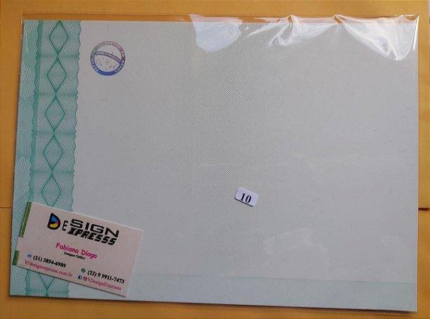 Papel Moeda A4 para Certificado com SELO HOLOGRAFICO PRATA ( Modelo 04 )_10Unid
