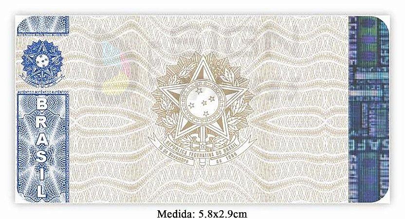 Selo de Segurança para Certificados 5.8x2.9cm - Modelo 01