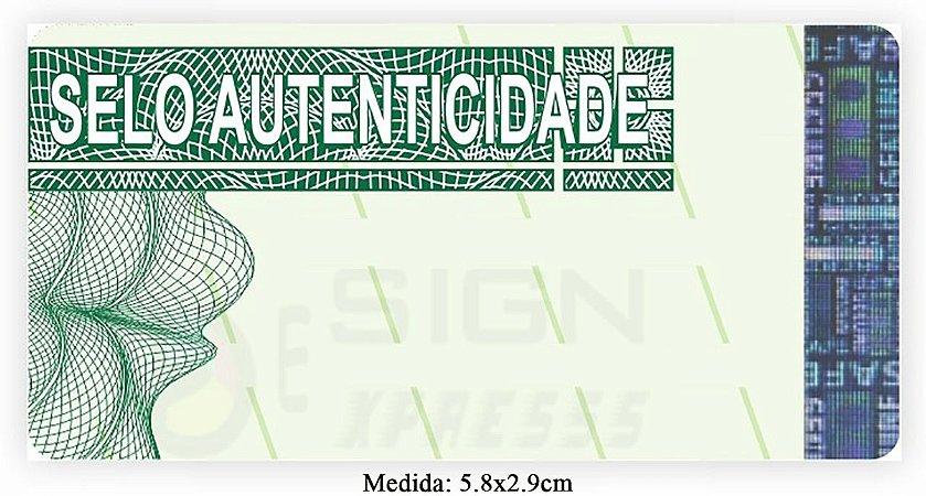Selo de Segurança para Certificados 5.8x2.9cm - Modelo 02