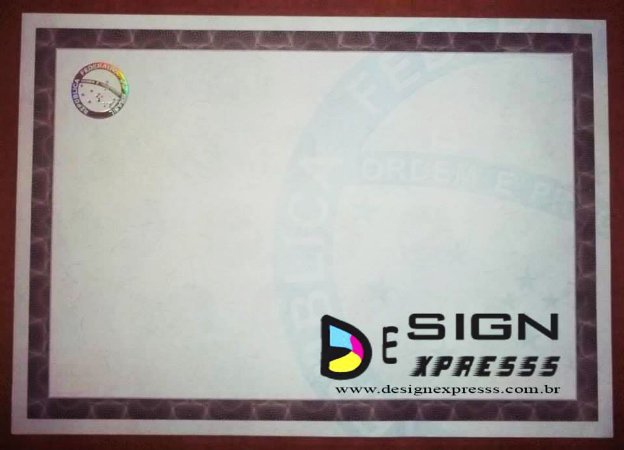 Papel Moeda para Certificado ( Modelo 01 ) _100Unid