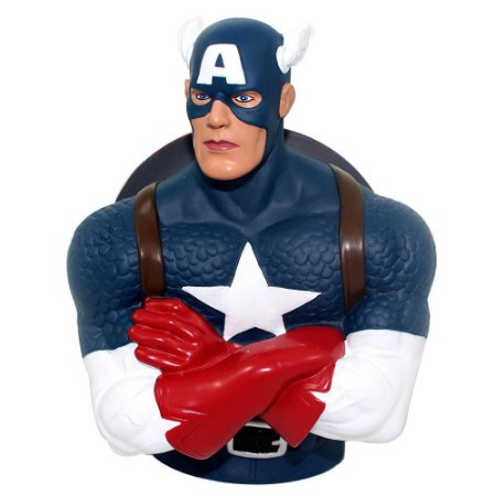 Cofre Busto Marvel Capitão America Colecionável