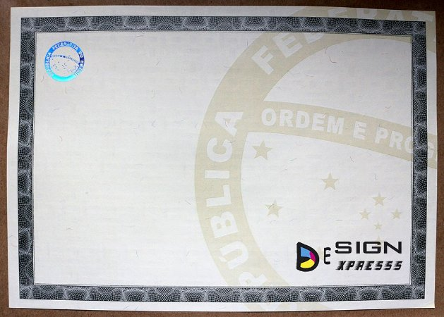 Papel Moeda para Certificado ( Modelo 02 ) _25Unid