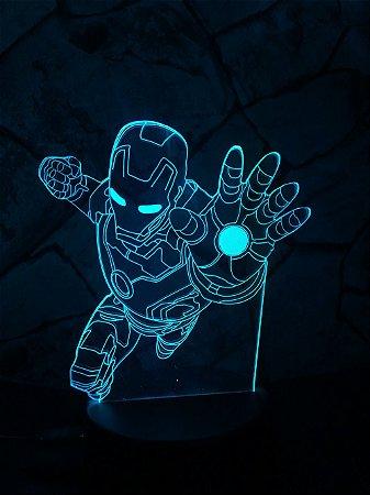 Luminária Led  Homem de Ferro  03 Cores