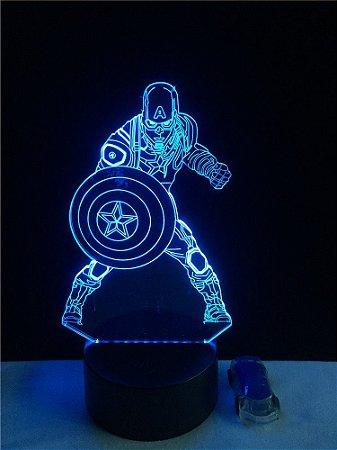 Luminária Led  Capitão America  03 Cores