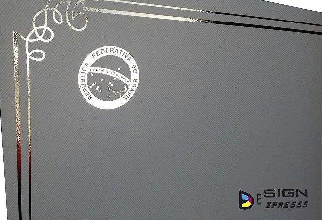 Papel Moeda Azul Claro Certificado A4 (Modelo 02 )