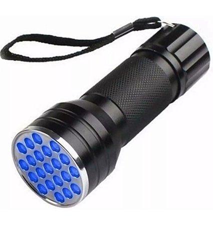 Lanterna Uv 21 Led Ultra Violeta (Luz Negra)
