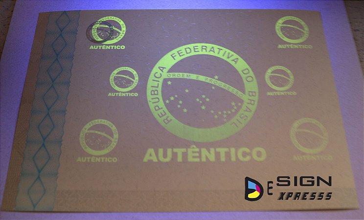 Certificado Papel Moeda  ( Modelo 03 )  50Unid