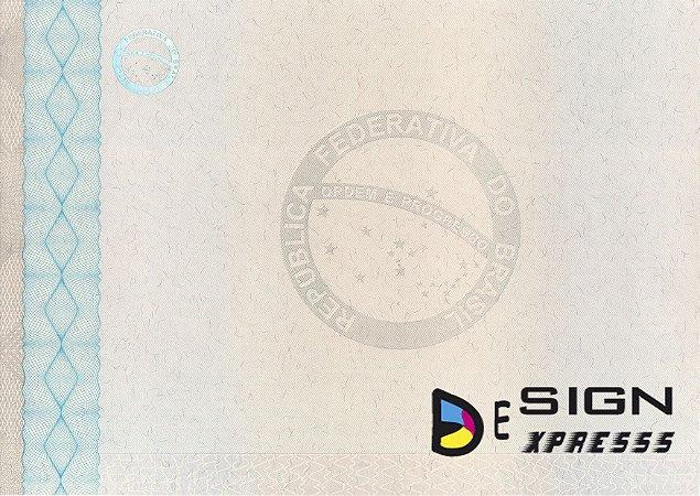 Papel Moeda A4 Certificado  ( Modelo 03 ) _25Unid