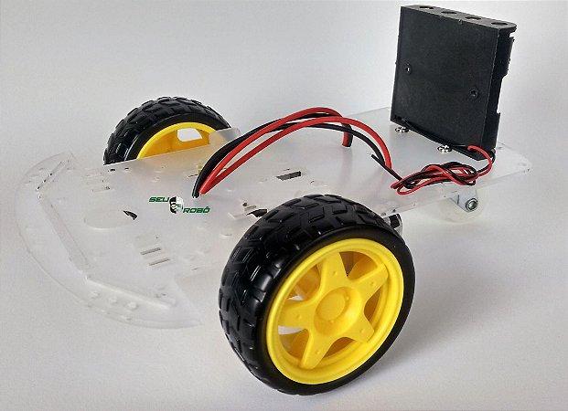 Kit Chassi 2WD (2 rodas) Robô para Arduino