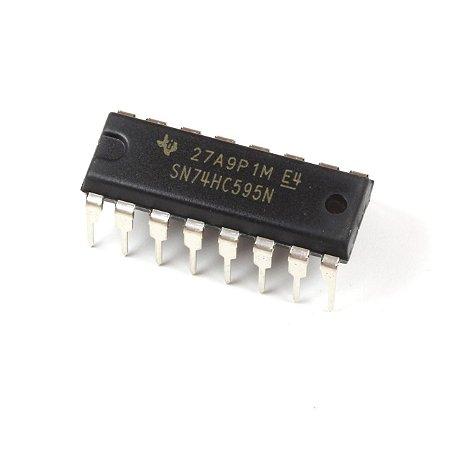 chip CI 74HC595N 8 BIT SHIFT REGISTER