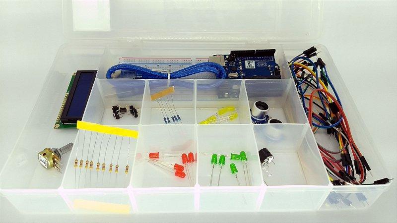 Kit Básico Arduino com Placa Uno - Seu Robô