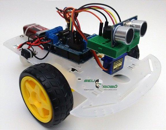 kit Robô Autônomo SR 1 com Arduino UNO - Exclusivo Seu Robô
