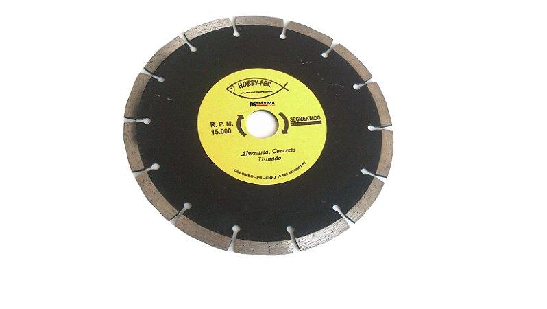 """Disco Diamantado Segmentado 7"""" 180mm"""