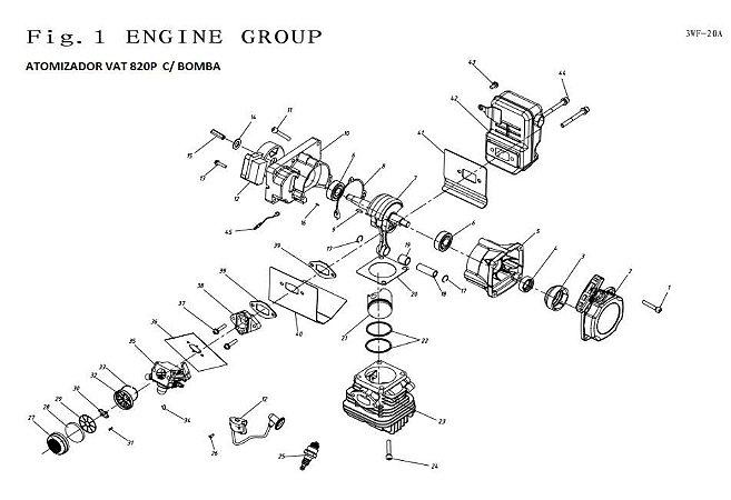 Peças De Reposição Atomizador Vulcan VAT820
