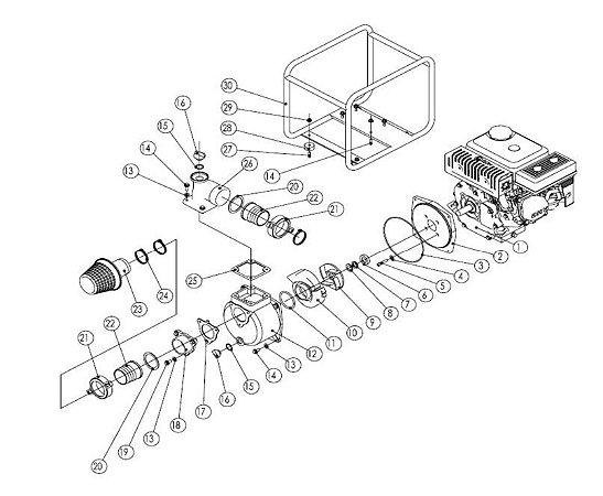 Peças De Resposição Motobomba Vulcan VMB552