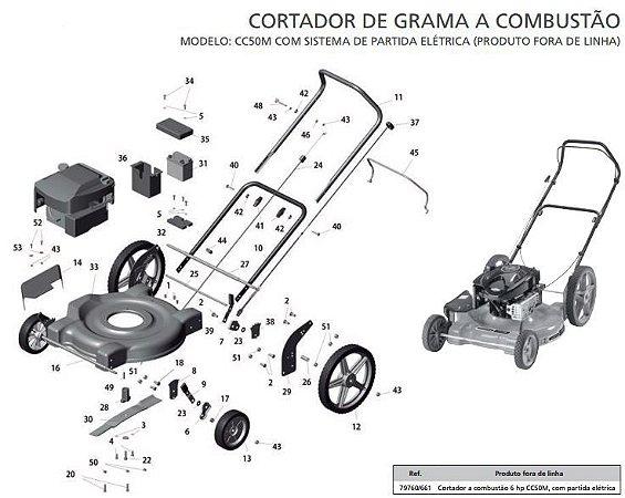 Peças de Reposição Cortador de Grama Combustão Tramontina CC50M