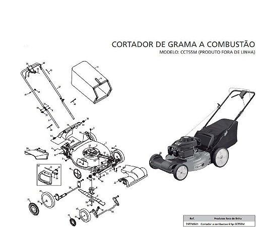 Peças Reposição Cortador Grama Combustão Tramontina CcT55M