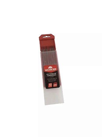 "Eletrodo Tugstênio 2,4mm 6""-150 mm Ponta Vermelha"