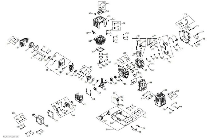 Peças De Reposição Roçadeira Vulcan VPS520