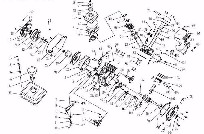 Peças De Reposição Motor Estacionário Vulcan VM160