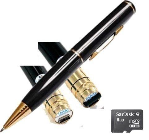 CANETA ESPIÃ Caneta Filmadora de 8GB Audio Caneta Pen drive (FRETE GRÁTIS)
