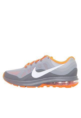 TÊNIS Nike AIR MAX DYNASTY 852430 CINZA Interpé COM LARANJA Interpé CINZA  7500e8 1592143387a5d