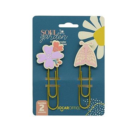 Clipes Soul Garden Borboleta 7,5cm Blister C/ 2 Und. - Jocar Office