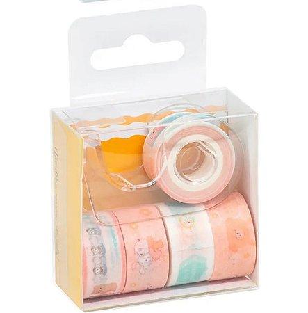Fita Adesiva Washi Tape BRW Soul Mini Pastel Dispenser Kit com 5