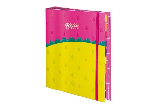 Caderno Argolado Colegial 1/4 Hello Dac Un/1