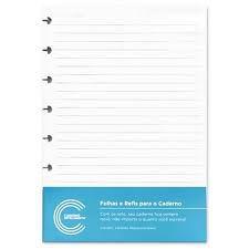 Folhas Para Caderno Inteligente A5 Pautado