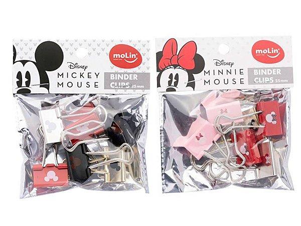 Binder Clips Mickey ou Minnie 25mm Unitario