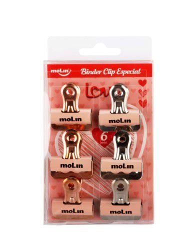Binder Clip Especial Molin 6 Un