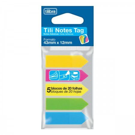 Tili Notes Tag 100 Folhas 5 Cores