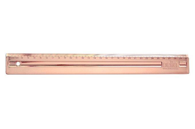 Régua 30cm Metalizada Rose Gold Dello