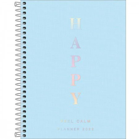 Planner Espiral Happy Azul 2022