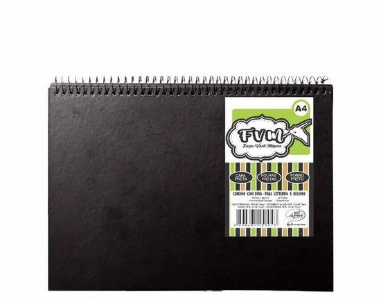 Caderno Letterting Black 40 folhas 180g/m² Merci