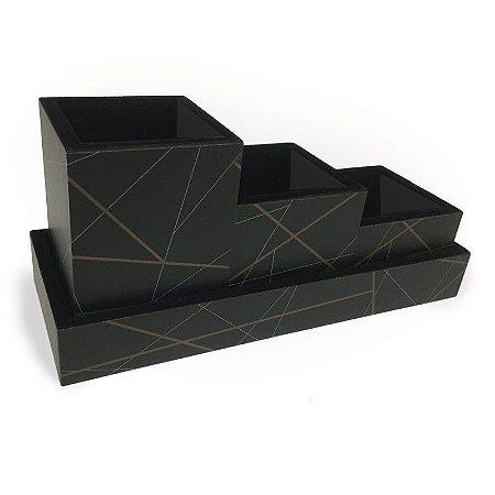 Organizador Mesa Slim Geometrico