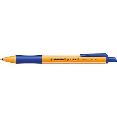 Caneta Esferografica Pointball 0.5mm Azul  Stabilo