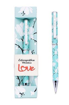 Caneta Metalica Molin Love Flower