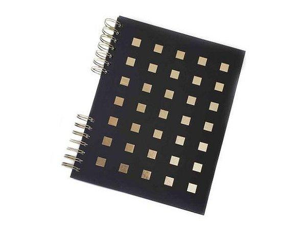 Caderno Preto e Dourado Up4You