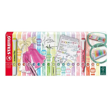 Marca texto Swing Cool + Swing Cool Pastel - com 18 cores - Stabilo